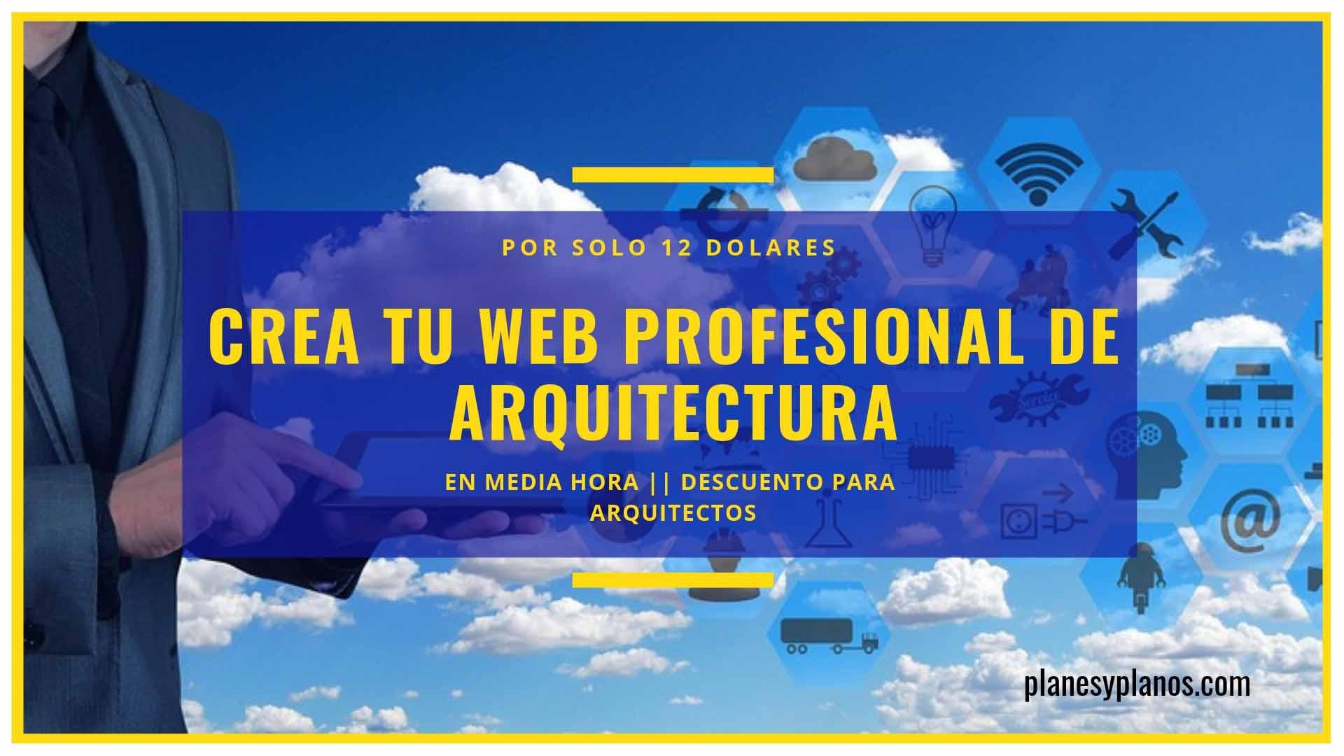 CREA TU WEB DE ARQUITECTURA DESCUENTO
