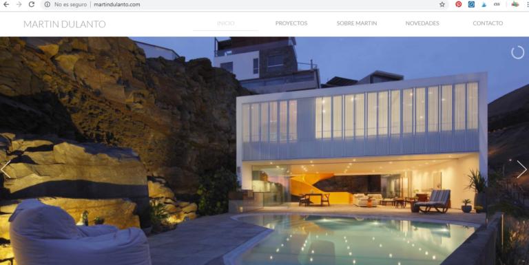 Web de arquitecto Martin Dulanto