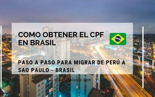 Como obtener el cpf , en brasil. Requisito indispensable si quieres migrar a Brasil.