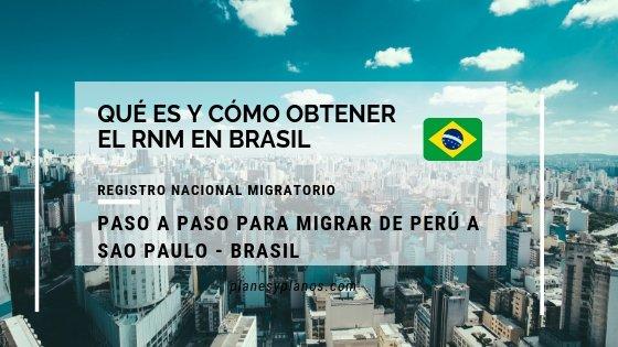Como obtener el registro nacional migratorio RNM antes llamado rne . como migrar de Perú a o de paises mercosur a brasil, actualizado al 2019