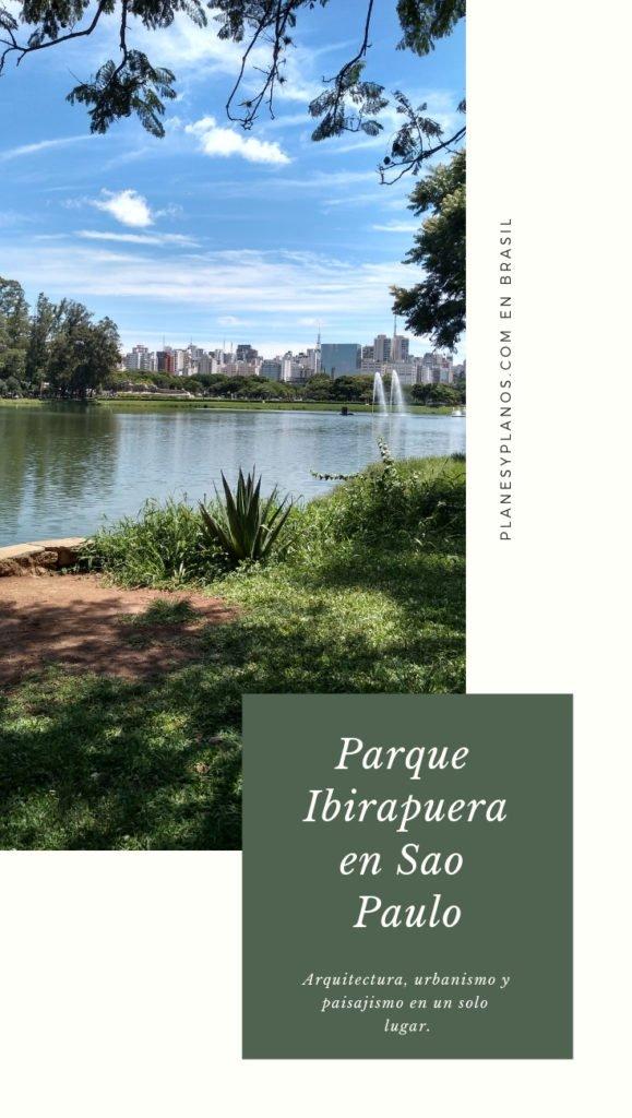 Arquitectura en el parque Ibirapuera en Sao Paulo . Arquitectura, urbanismo, y paisajismo en un solo lugar.