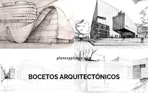 bocetos arquitectónicos